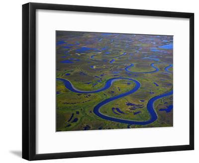 The Igushik River Snakes Through the Togiak National Wildlife Refuge-Michael Melford-Framed Photographic Print
