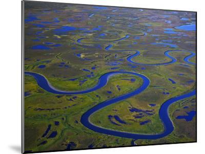 The Igushik River Snakes Through the Togiak National Wildlife Refuge-Michael Melford-Mounted Photographic Print