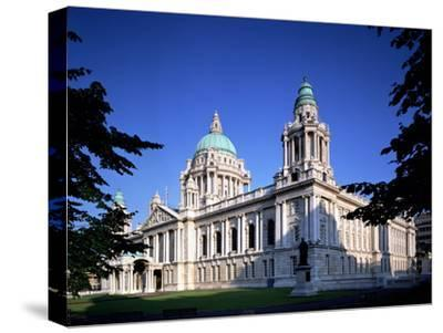 The City Hall in Belfast-Chris Hill-Stretched Canvas Print