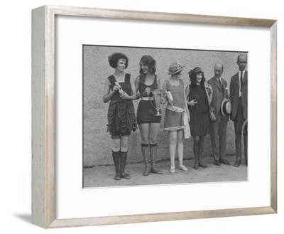 Girls in Summery Attire Hold Cup, Ribbons, and Awards They've Won-Maynard Owen Williams-Framed Photographic Print