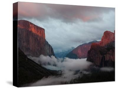 Fog Settles over Yosemite Valley-Jimmy Chin-Stretched Canvas Print