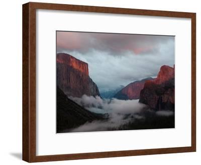 Fog Settles over Yosemite Valley-Jimmy Chin-Framed Photographic Print