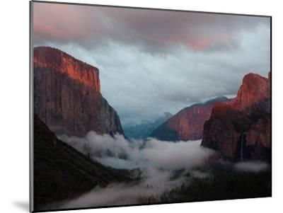 Fog Settles over Yosemite Valley-Jimmy Chin-Mounted Photographic Print