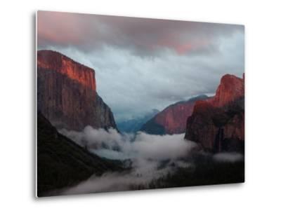 Fog Settles over Yosemite Valley-Jimmy Chin-Metal Print