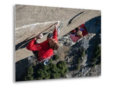 Without a Rope, a Climber Scales a Route on El Capitan-Jimmy Chin-Metal Print