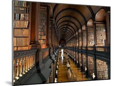 The Long Room in the Old Library at Trinity College in Dublin-Chris Hill-Mounted Photographic Print