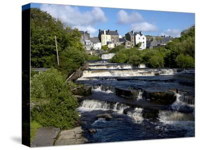 Cascades of Ennistymon in County Clare-Chris Hill-Stretched Canvas Print