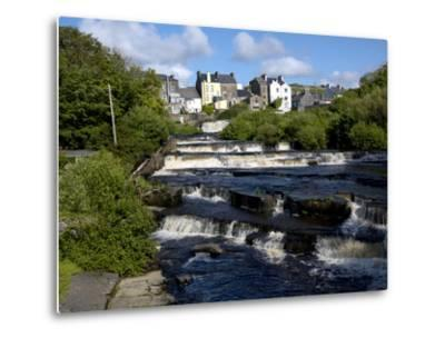 Cascades of Ennistymon in County Clare-Chris Hill-Metal Print