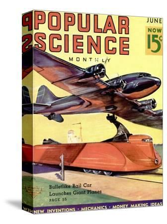 Front Cover of Popular Science Magazine: June 1, 1930--Stretched Canvas Print