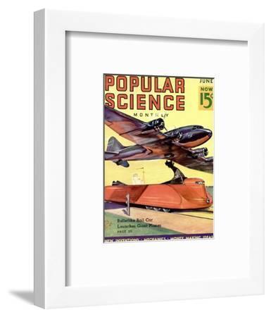 Front Cover of Popular Science Magazine: June 1, 1930--Framed Art Print