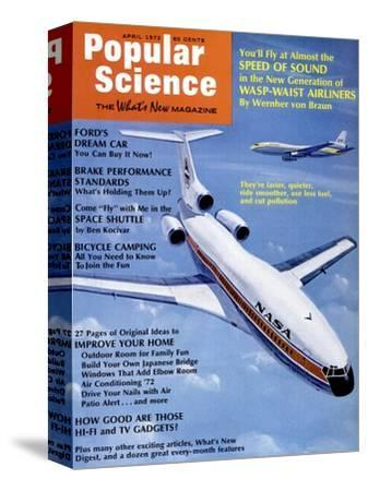 Front Cover of Popular Science Magazine: April 1, 1972--Stretched Canvas Print
