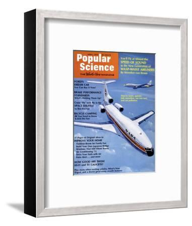 Front Cover of Popular Science Magazine: April 1, 1972--Framed Art Print