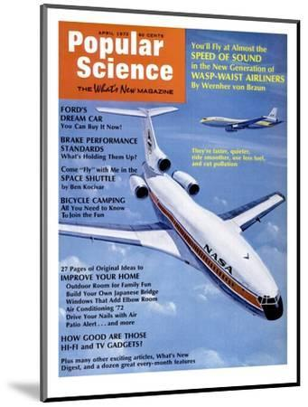 Front Cover of Popular Science Magazine: April 1, 1972--Mounted Art Print