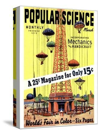 Front Cover of Popular Science Magazine: March 1, 1930--Stretched Canvas Print