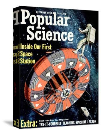 Front cover of Popular Science Magazine: December 1, 1962--Stretched Canvas Print