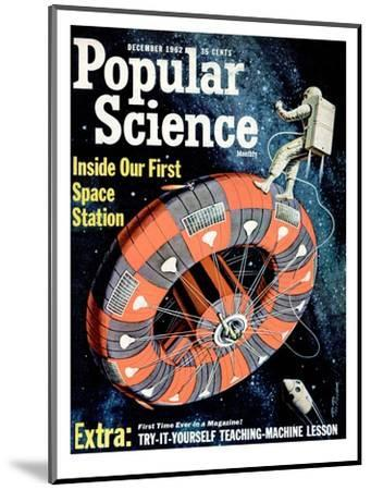 Front cover of Popular Science Magazine: December 1, 1962--Mounted Art Print