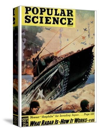 Front cover of Popular Science Magazine: September 1, 1940--Stretched Canvas Print