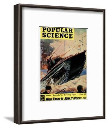 Front cover of Popular Science Magazine: September 1, 1940--Framed Art Print