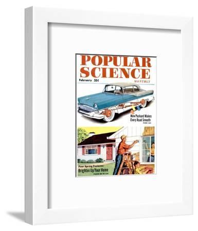 Front cover of Popular Science Magazine: February 1, 1950--Framed Art Print