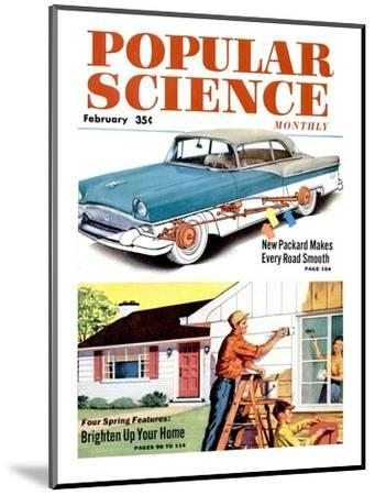 Front cover of Popular Science Magazine: February 1, 1950--Mounted Art Print