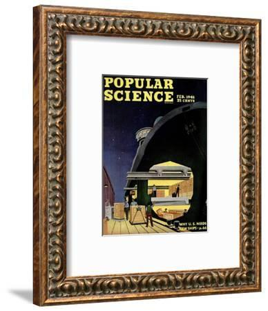 Front cover of Popular Science Magazine: February 1, 1946--Framed Art Print