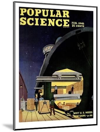 Front cover of Popular Science Magazine: February 1, 1946--Mounted Art Print