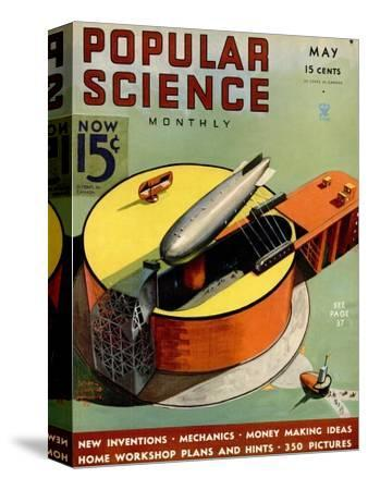 Front cover of Popular Science Magazine: May 1, 1930--Stretched Canvas Print