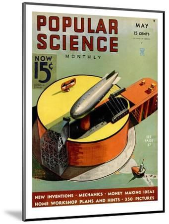 Front cover of Popular Science Magazine: May 1, 1930--Mounted Art Print