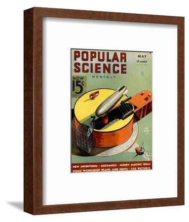 Front cover of Popular Science Magazine: May 1, 1930--Framed Art Print