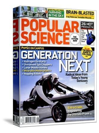 Front cover of Popular Science Magazine: September 1, 2008--Stretched Canvas Print