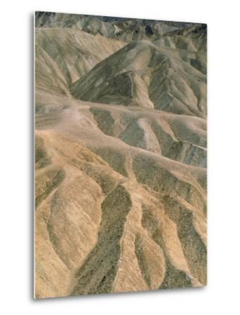 Zabriskie Point in the Death Valley National Park, California (USA)-Theo Allofs-Metal Print