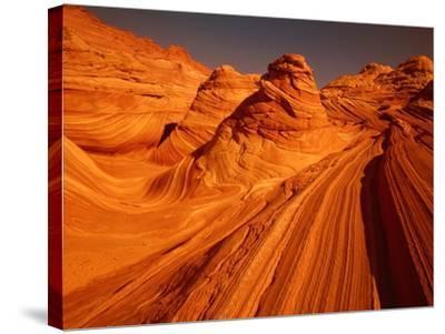 Vermillion Cliffs, The Wave, Grand Staircase Escalante Nationalpark, Arizona, USA-Frank Krahmer-Stretched Canvas Print