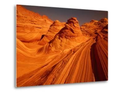 Vermillion Cliffs, The Wave, Grand Staircase Escalante Nationalpark, Arizona, USA-Frank Krahmer-Metal Print