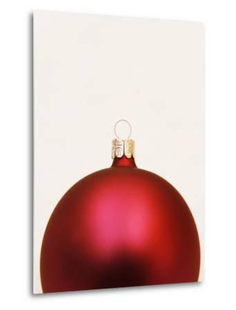 Red Christmas tree decorations--Metal Print