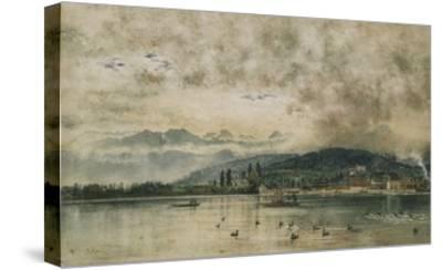 Lake Lucerne, Switzerland-Rudolf von Alt-Stretched Canvas Print
