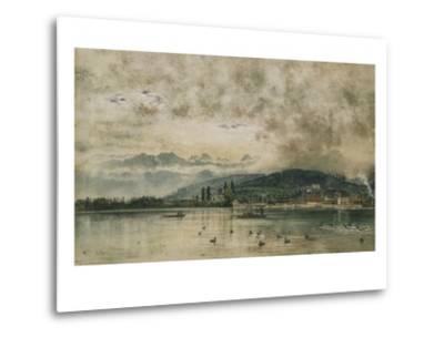 Lake Lucerne, Switzerland-Rudolf von Alt-Metal Print