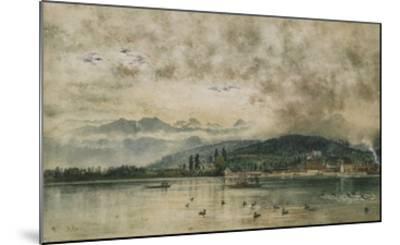 Lake Lucerne, Switzerland-Rudolf von Alt-Mounted Giclee Print