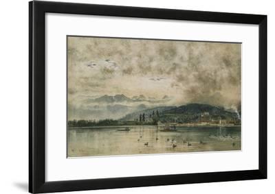 Lake Lucerne, Switzerland-Rudolf von Alt-Framed Giclee Print