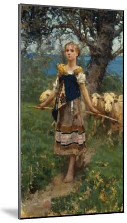 The Young Shepherdess-Francesco Paolo Michetti-Mounted Giclee Print