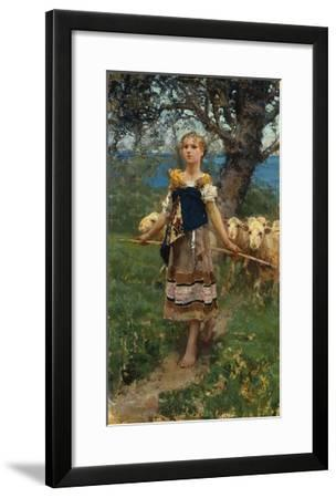 The Young Shepherdess-Francesco Paolo Michetti-Framed Giclee Print