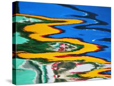 Colors Reflected in Ripples in Canal-William Manning-Stretched Canvas Print