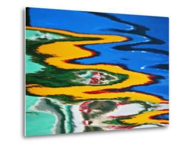 Colors Reflected in Ripples in Canal-William Manning-Metal Print
