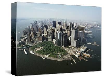 Manhattan's Financial District-David Jay Zimmerman-Stretched Canvas Print