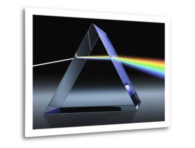 Light Beam Through Glass Prism-Matthias Kulka-Metal Print