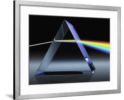 Light Beam Through Glass Prism-Matthias Kulka-Framed Giclee Print