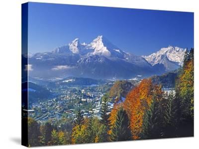 Berchtesgaden and Mount Watzmann-Walter Geiersperger-Stretched Canvas Print