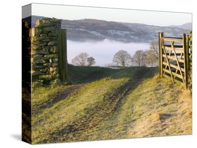 Frosty Early Morning Landscape Over Lake Windermere-Ashley Cooper-Stretched Canvas Print