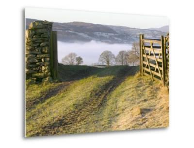 Frosty Early Morning Landscape Over Lake Windermere-Ashley Cooper-Metal Print