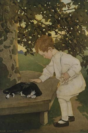 The Senses: Touch-Jessie Willcox-Smith-Stretched Canvas Print