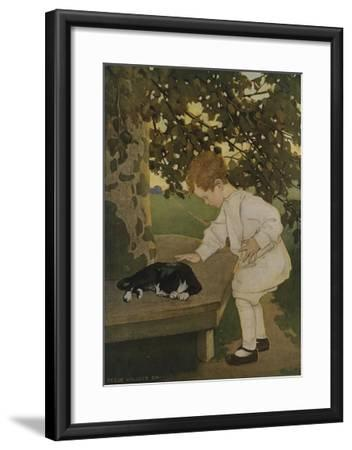 The Senses: Touch-Jessie Willcox-Smith-Framed Giclee Print